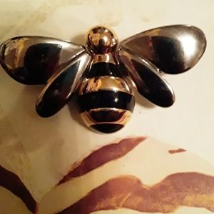 BEE PIN WITH LC HALLMARK VINTAGE LIZ CLAIBORNE